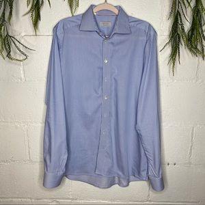 Eton Contemporary 16.5/42 Blue/White Stripe Shirt
